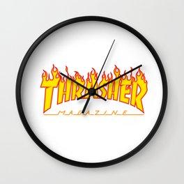 thrasher new yellow magazine 2018 hot style model fire Wall Clock