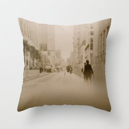 Somewhere in Downtown Throw Pillow