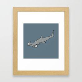 4-Eyed Hammerhead Shark Week Framed Art Print