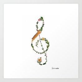 G clef Art Print