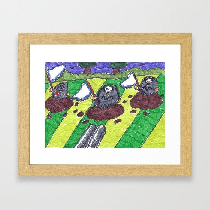 Surrendering Moles Framed Art Print