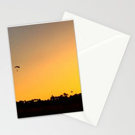 Paragliding in sunset Stationery Cards