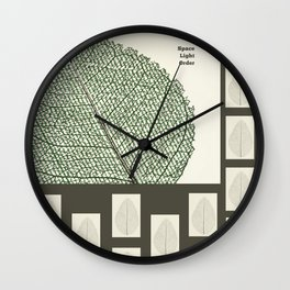 Space and Light and Order Quote #1 Wall Clock