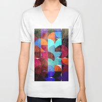 grafitti V-neck T-shirts featuring Retro colorful by LoRo  Art & Pictures