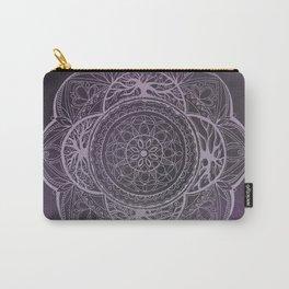 Purple Boho Mandala Carry-All Pouch