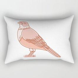 Rufous Bellied Thrush Bird Illustration Rectangular Pillow