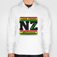 new zealand Hoodies featuring New Zealand  by mailboxdisco
