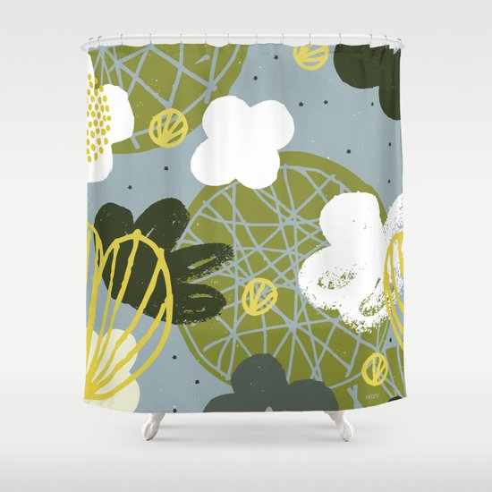 Kokedama Garden by Friztin Shower Curtain