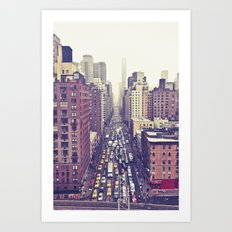 flying over first... (colour) Art Print