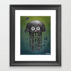 Jelly Swamp Print by NREAZON Framed Art Print