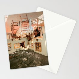 Between two worlds Stationery Cards