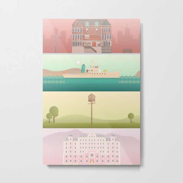 A Wes Anderson Collection Metal Print