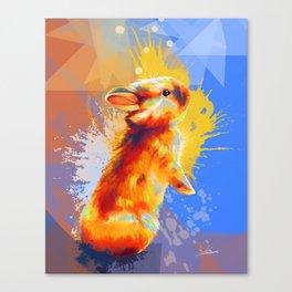 Colors of Fluff - Bunny portrait Canvas Print