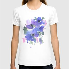 Blue Poppies and Wildflowers T-shirt