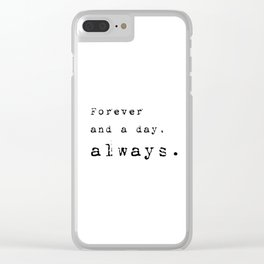 Forever and a day, always - Lyrics collection Clear iPhone Case