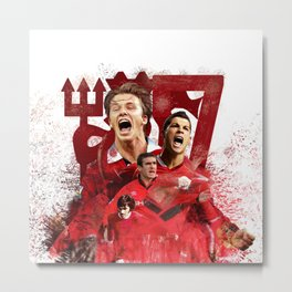 Man United Number 7 Metal Print