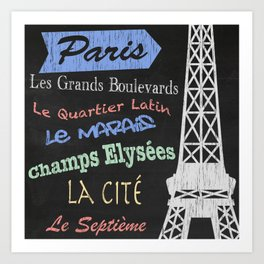 Paris Tourism Poster Art Print