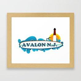 Avalon - New Jersey. Framed Art Print