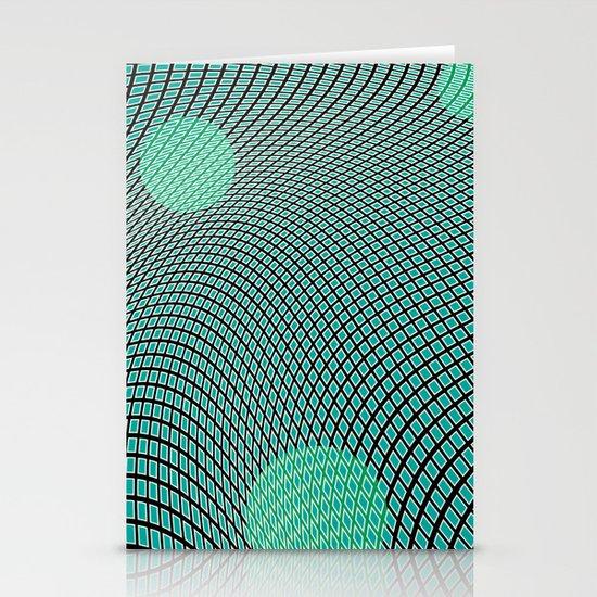 mod-century grid Stationery Cards