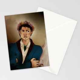 SPN - Castiel wearing a flower crown Stationery Cards