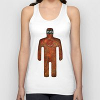 super hero Tank Tops featuring Rust Man - Super Hero by Paul Stickland for StrangeStore
