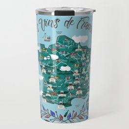 Map of french vineyards Travel Mug