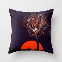 Cosmic tree of fireworks Throw Pillow
