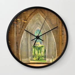 CATHEDRAL ARCHES Wall Clock