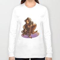 bikini Long Sleeve T-shirts featuring Bikini by Sabina  Daldovo