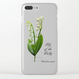 Lily of the Valley Clear iPhone Case