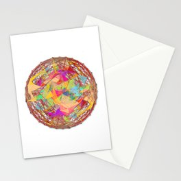 Abstract String Ball Stationery Cards