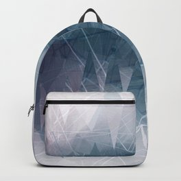 Ameythist Crystal Inspired Modern Abstract Backpack