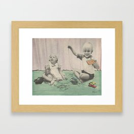 Cassette Playing Framed Art Print