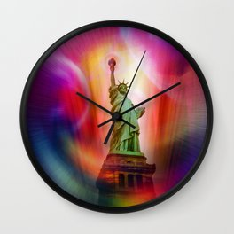 New York NYC - Statue of Liberty 2 Wall Clock
