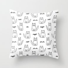 Little Cats with Bad Attitudes Throw Pillow