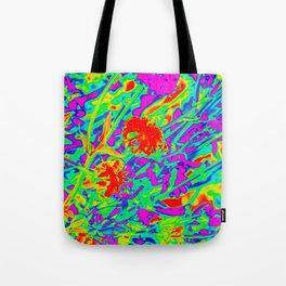 Psychedelic flower garden Tote Bag