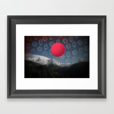 Space Japan Framed Art Print
