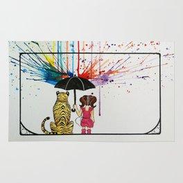 Raining Rainbows Rug