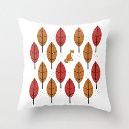 Autumn Fox Throw Pillow