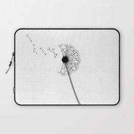 Dandelion Black and White Laptop Sleeve