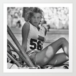 Swedish Olympian Gunhild Larking at the Melbourne Olympics Art Print