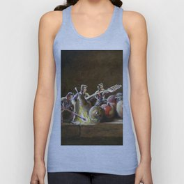 Still Life with Tiny Evil Ashes: After Chardin Unisex Tank Top