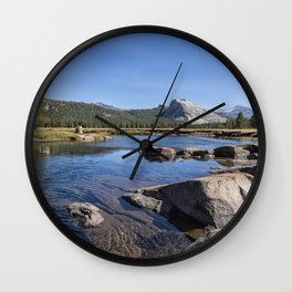 Tuolumne River and Meadows, No. 1 Wall Clock