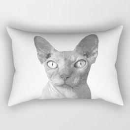 Black and White Sphynx Cat Rectangular Pillow