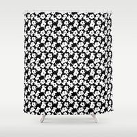 mod Shower Curtains featuring Mod Flower by Alice Rebecca Potter
