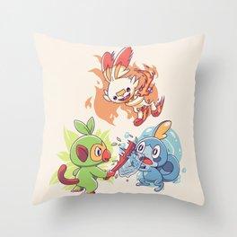 Galar Starters Light Throw Pillow
