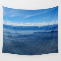 peru Wall Tapestries featuring Blue in Peru by The Blonde Dutch Girl