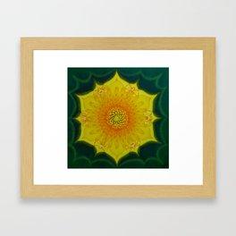 Dandelion Sun / Võilillepäike Framed Art Print