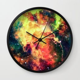 Flames in Our Galaxy Wall Clock