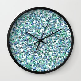 Teal Mermaid Scales Queen Wall Clock